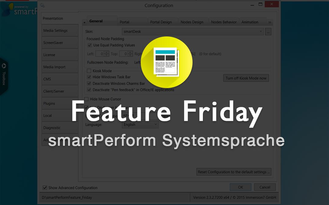 smartPerform Systemsprache