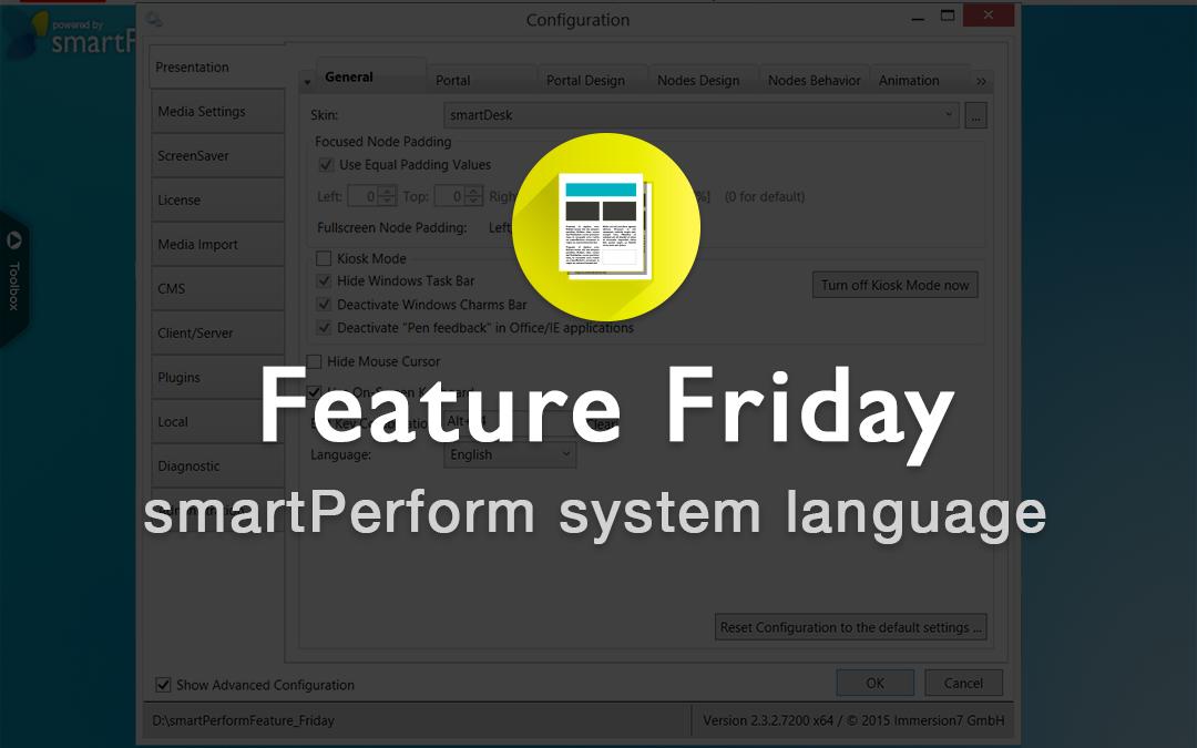 smartPerform System Language