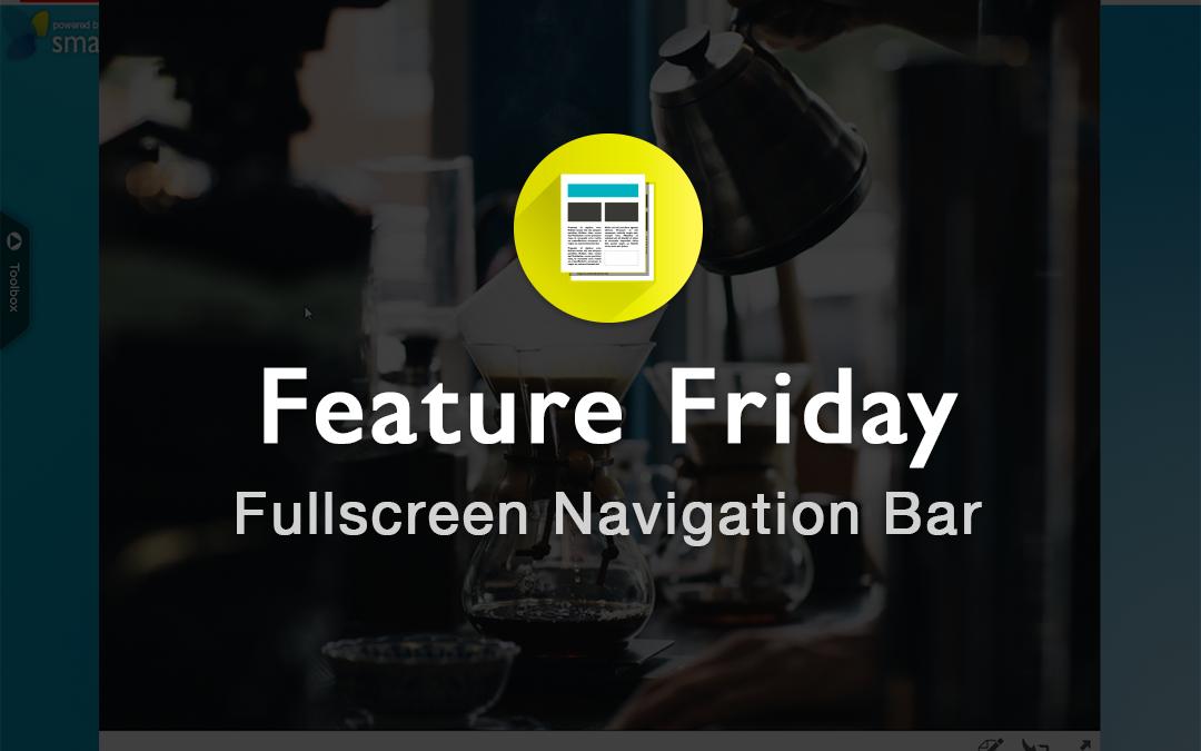 Fullscreenmode: Navigationbar